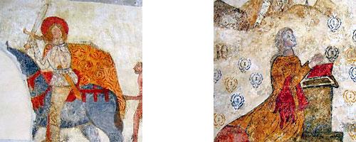 Deux fresques découvertes en 2003