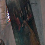 Le Christ intronisant Saint Pierre premier pape par Le Guerchin (grand tableau à droite)