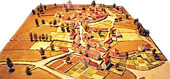 Maquette du village d'Huriel