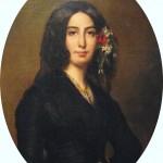 Peinture de Georges Sand par Auguste Charpentier
