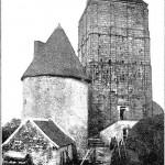 Le donjon de la Toque lorsqu'il était coiffé début 20è siècle